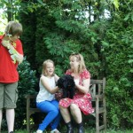 Labradoodle pups and families